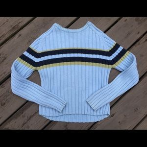 🌿Vintage 90's Striped Ribbed Knit Cropped Sweater